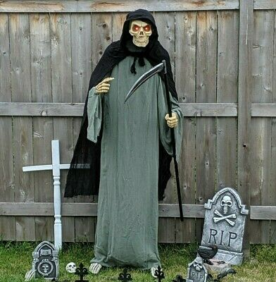 Animated 6ft Life-Size Grave Digger Grim Reaper - PAC Halloween 2019 *NEW*