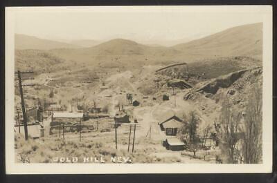 RP Postcard GOLD HILL Nevada/NV  Early 1900's Local Area Town Aerial view 1910's