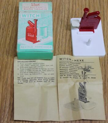 Vintage Witch Automatic Sewing Needle Threader with Instructions West Germany