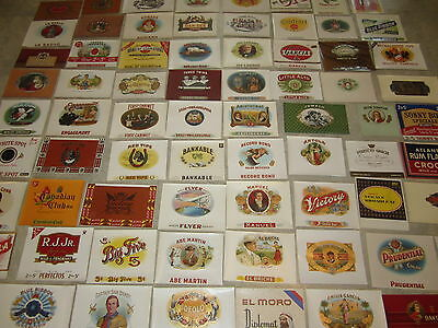 WHOLESALE Collection of 100 Old Antique Inner CIGAR Box LABELS -  All Different