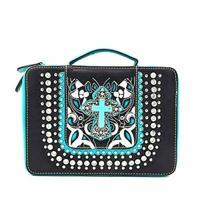 Bible Cover Western Bible Book Case Messenger Bag Embroidery Rhinestone Cross
