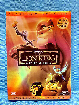 The Lion King (2-Disc Special Edition) Platinum Edition Brand New DVD