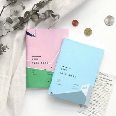 A6 Mini Handy Cash Book Money Record Account Budget Planner Diary Notebook