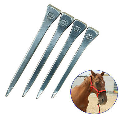 """Steel 1.6//1.75//1.85//2/"""" Horseshoe Nails Box of 100pc for Stained Glass/&horse race"""