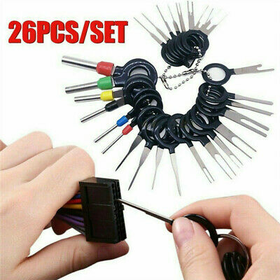 26x Terminal Removal Tool Car Electrical Wiring Crimp Connector Pin Extractor