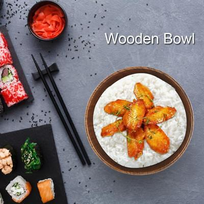 Japanese Style Wooden Bowl Soup/Salad Rice Bowls Heat-resistant Wood Tableware
