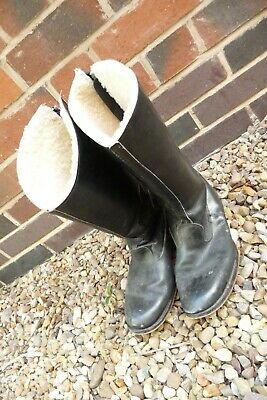 Motorcycle despatch riders boots GOLD TOP BELSTAFF ? size 10 EU 44 leather black