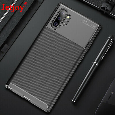 For Samsung Galaxy Note 10 Plus Case Ultra Slim Carbon Fiber Matte Armor Cover