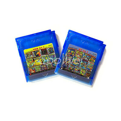 Super All Game Boy Color cartridge  (multi cart for GameBoy, GBC) 108 games in 1