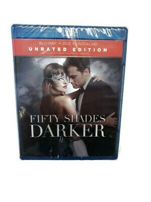 Fifty Shades Darker Unrated Edition Blu-Ray + DVD + Digital New And Sealed