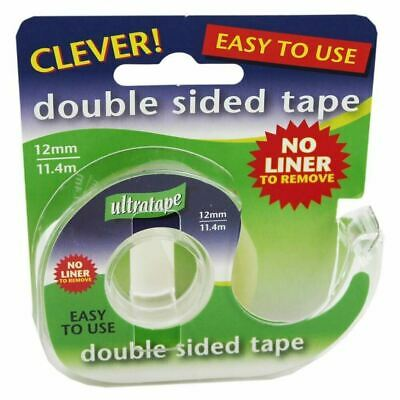 ultratape Double Sided Strong Sellotape tape 12mm x 11.4m For School Office Home