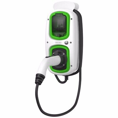 Rolec Wallpod EV Charger 16A Tethered 5m Type2 White for EV and PHEV BMW, Tesla