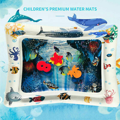 Infant Toddler Fun Tummy Time Play Activity Center Inflatable Water Play Mat New