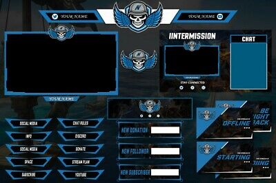 I Will Design Gaming Twitch/YouTube Overlay and Facecam