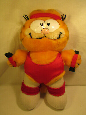 Old Garfield Plush Figure 80er: Aerobics
