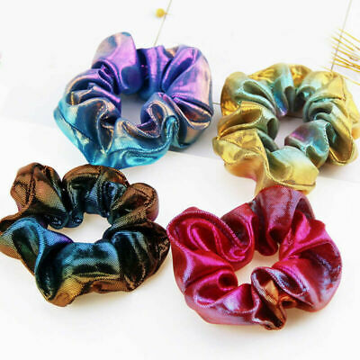 New Hair Ring Elastic Glitter Women Scrunchie Holder Bronzing Ponytail Rope