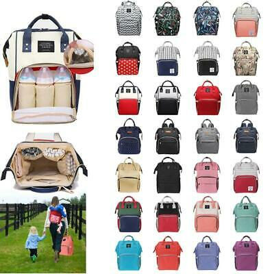 Multi-use Large Mummy Baby Diaper Nappy Backpack Mom Changing Travel Care Bag UK