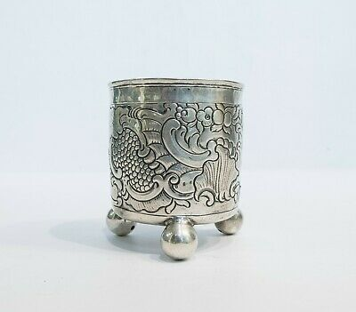 Russian Silver Beaker on Ball Feet, 1766
