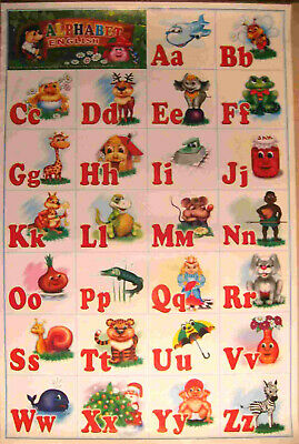 "Big Educational Childs Poster - The English Alphabet - 17x24"" Wall Chart"