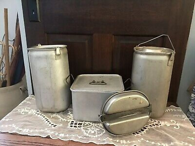 VINTAGE MILITARIA 1944 WORLD WAR II US ARMY MESS KIT M. A. CO Plus 1954 US Mirro