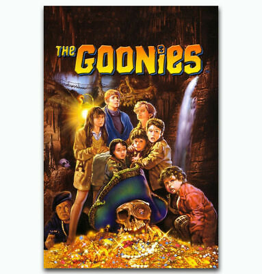 A639 Fabric Poster The Goonies Treasure Classic Movie Film Room Decor8x12 24x36