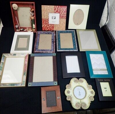 lot of vintage Wood Metal Resin Picture Photo Frames Variety of 14 Styles & Sz