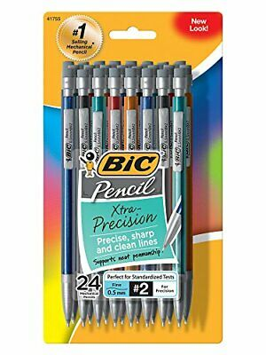 BIC Xtra-Precision Mechanical Pencil Metallic Barrel Fine Point 0.5mm ,24 by BIC