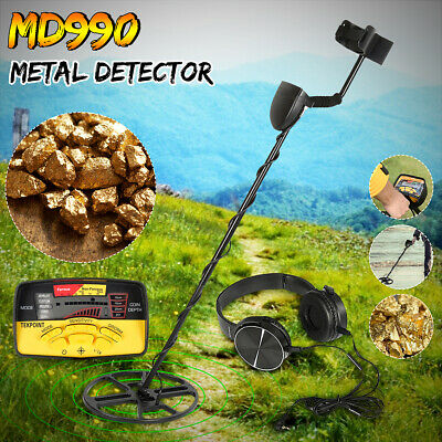 MD990 Metal Detector LCD Display Underground Search Coin Gold Silver Headphone