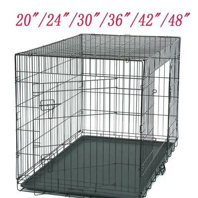 "48"" 20""36""42""24""36""Pet Cat Dog Foldable Crate Playpen Metal Cage Pen Kennel Six"