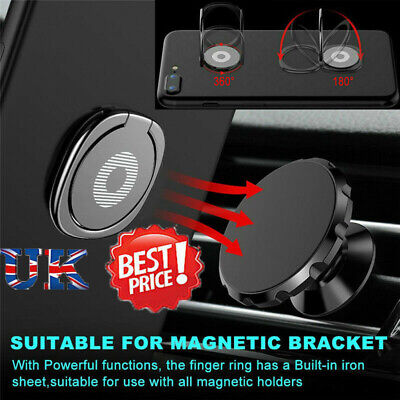 Universal Finger Grip Ring Phone Holder 360°Rotating Magnet Stand Phone Stand UK