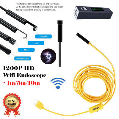 8 LED Rigid Endoscope Wireless Borescope Inspection Camera fit Android iPhone