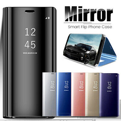 360° Clear View Mirror Smart Case Cover for Samsung Galaxy Note 10 S10 Plus Skin