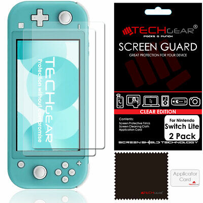 2 Pack of TECHGEAR Screen Protector Guard Covers for Nintendo Switch Lite