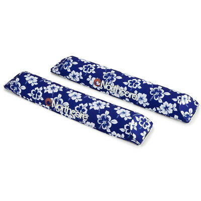 Blue Hibiscus NORTHCORE Surfboard AERO Roof Bar Pads NEW 48cm (2) rack Floral