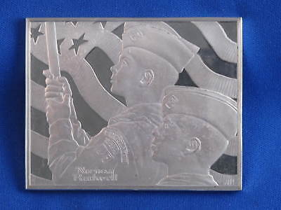 1973 Franklin Mint Norman Rockwell The Big Parade Sterling Silver Medal B3567