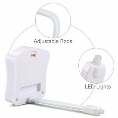 LED Toilet Bathroom Night Light PIR Motion Activated Seat Sensor 8 Color UK MCB