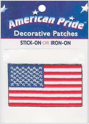"/""American Pride Decorative Patches-Small American Flags 2//Pkg Set Of 3/"""