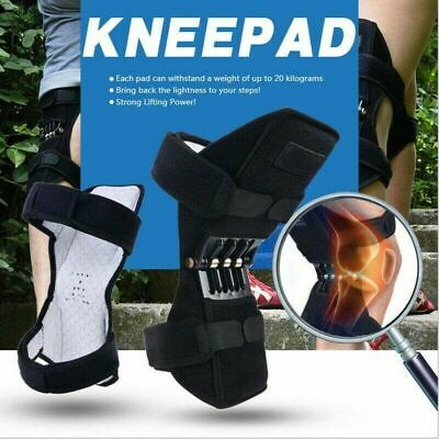 2Pcs Knee Joint Support Brace Lift Booster Leg Pad Sport Spring Force PainRelief