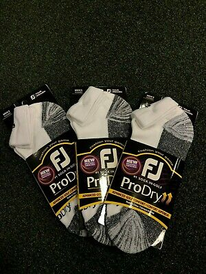 NEW: FJ FootJoy Men's ProDry / Tech Soft Tour Golf Quarter Socks, size uk 6-11