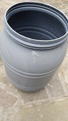 Empty Plastic Barrels with Lids - Water Butt - Storage/Shipping Container