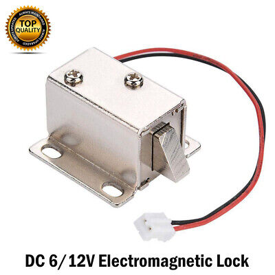 6V/12V DC Cabinet Door Drawer Electric Lock Assembly Solenoid Lock