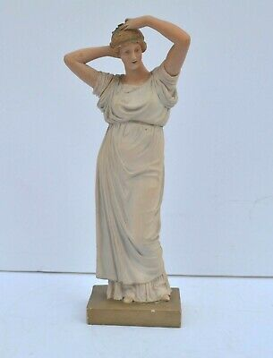 Antique Outstanding French Terracotta Sculpture Gorgeous Nymph Fixing Her Hair