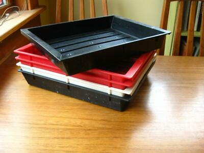 """Lot of 5 darkroom Photo developing processing Trays 8 X 10"""" photographic paper"""