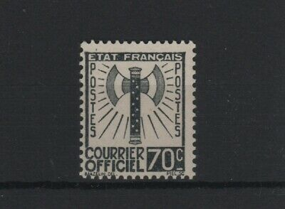 "FRANCE STAMP TIMBRE SERVICE N° 5 "" FRANCISQUE 70c GRIS-NOIR "" NEUF xx LUXE T992"