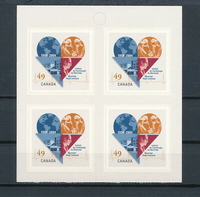 CANADA  #2056a MNH Booklet Pane, Montreal Heart Institute, 2004
