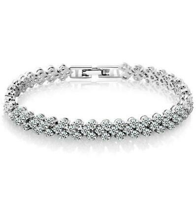 HOT Fashion Women White 925 Silver Plating Charm Bracelet Bangle Girls Jewelry