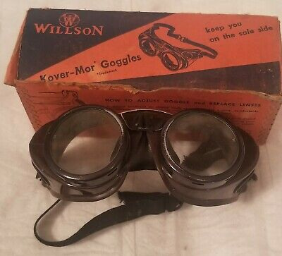 Vintage Willson Kover-mor Chipping Goggles old but on great condition collector