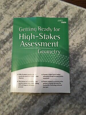 HMH Geometry High-Stakes Assessment 2018 by Houghton Mifflin Hardcourt NEW