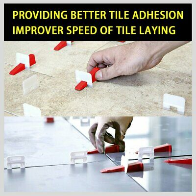 Tile Leveling System Clips Kit Levelling Spacer Tiling Tool Wall b3