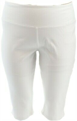 Women with Control Petite Tummy Cntrl Pedal Pushers White PL NEW A305387